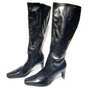 Franco Sarto Women's black heel boots size 9M
